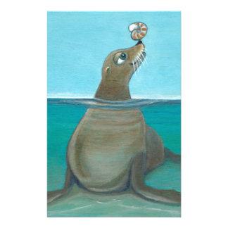 """Nautilus"" The Sea Lion Stationery"