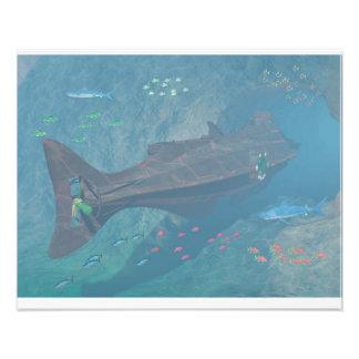 Nautilus undersea tunnel photo print