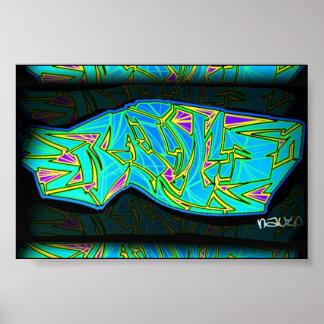 Nauto Graffiti Poster