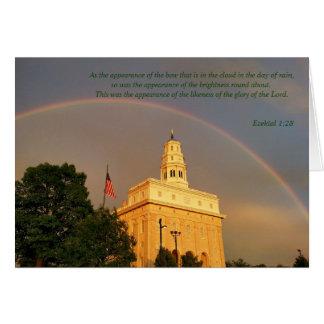 Nauvoo Illinois Temple Embraced By a Rainbow Card
