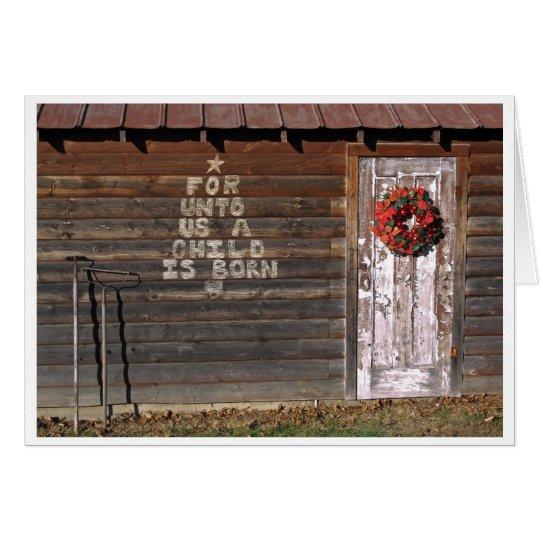 Nauvoo Rustic Christmas Card