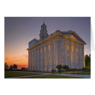 Nauvoo Temple at Dusk Card