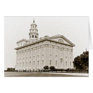 Nauvoo Temple B/W Card