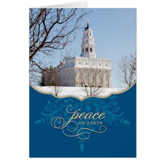 Nauvoo Temple Christmas Card Peace on Earth
