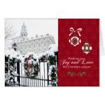 Nauvoo Temple Christmas Card - Snowy Wreath