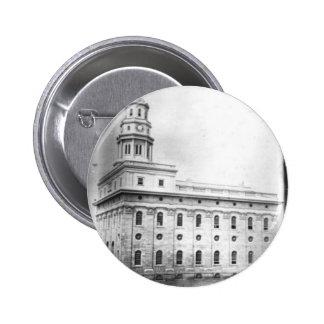 Nauvoo Temple daguerreotype Button