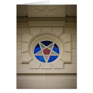Nauvoo Temple Star Window Card
