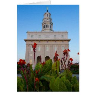 Nauvoo Temple Summer Flowers Card