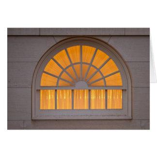 Nauvoo Temple Window Card