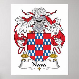 Nava Family Crest Poster