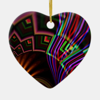 Navaho Double-Sided Heart Ceramic Christmas Ornament