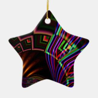 Navaho Double-Sided Star Ceramic Christmas Ornament