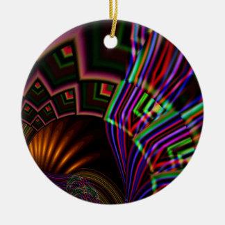 Navaho Double-Sided Ceramic Round Christmas Ornament