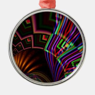 Navaho Round Metal Christmas Ornament