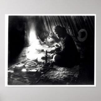 Navaho silversmith, c.1915 poster