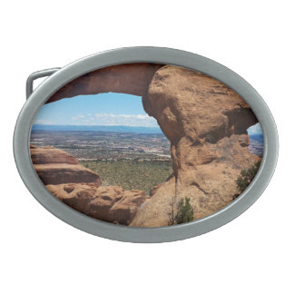 Navajo Arch Arches National Park Utah Oval Belt Buckle