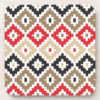 Navajo Aztec Tribal Print Ikat Diamond Pattern Coaster