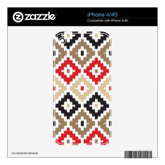Navajo Aztec Tribal Print Ikat Diamond Pattern iPhone 4 Skin