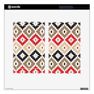 Navajo Aztec Tribal Print Ikat Diamond Pattern Skins For Kindle Fire