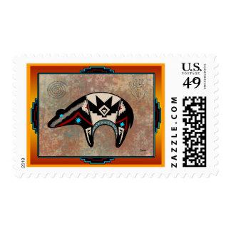 Navajo Bear Postage Stamps