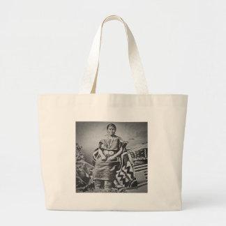 Navajo Blanket Weaver Large Tote Bag