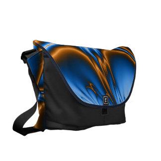 Navajo Blue Fractal Large Zero Messenger Bag