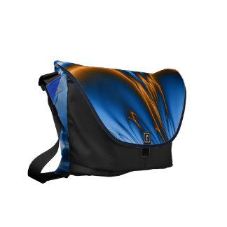 Navajo Blue Fractal  Messenger Bag
