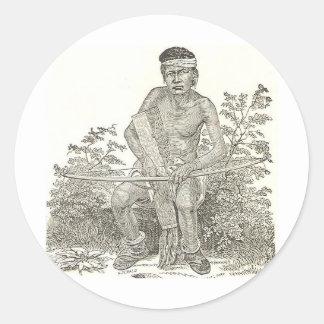Navajo Boy circa 1890 Round Sticker