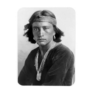 Navajo Boy - Historic Photo by Karl E. Moon Magnet