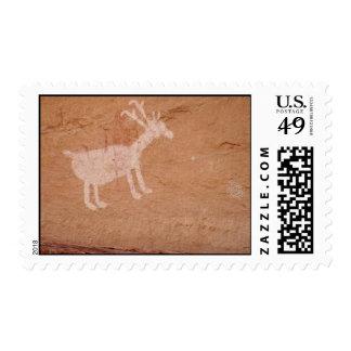 Navajo cave paintings utah stamp