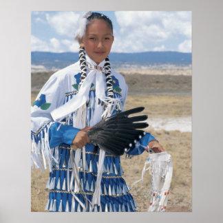 Navajo dancer poster