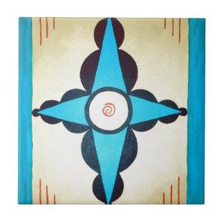 Navajo del nativo americano inspiró arte azulejo cuadrado pequeño