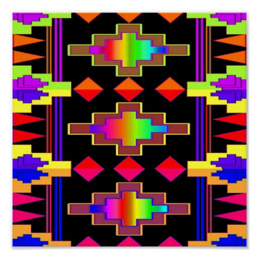 Navajo Design Print on Canvas
