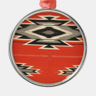 Navajo Designs Metal Ornament
