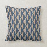 Navajo Diamond Pattern Denim Blue Pillow