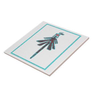 Navajo Dragonfly, Insect Mythology Ceramic Tile