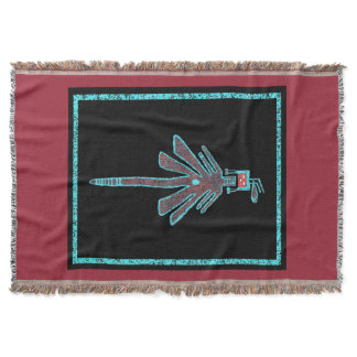 Navajo Dragonfly, Insect Mythology Throw