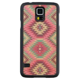 """Navajo Dreams (Pink)"" Maple Wood Galaxy S5 Case Carved® Maple Galaxy S5 Case"
