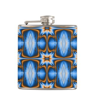 Navajo Fractal Star Hip Flask