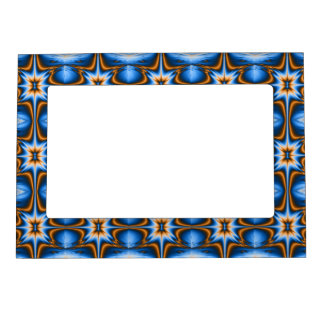 Navajo Fractal Star Magnetic Photo Frame