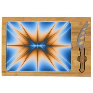 Navajo Fractal Star Rectangular Cheese Board