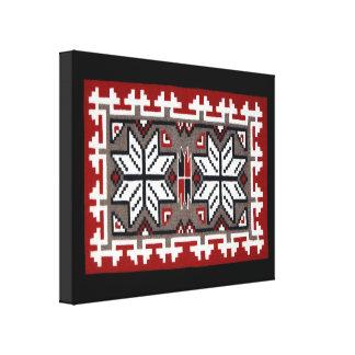 Navajo Ganado Red Weaving Canvas Print