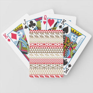 Navajo Geometric Aztec Andes Tribal Print Pattern Bicycle Playing Cards