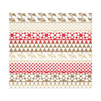 Navajo Geometric Aztec Andes Tribal Print Pattern Canvas Print