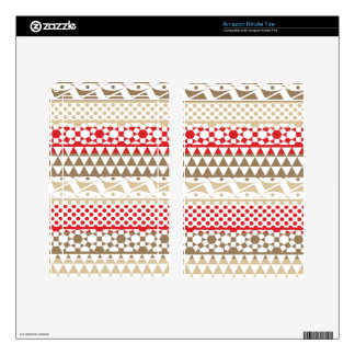 Navajo Geometric Aztec Andes Tribal Print Pattern Decal For Kindle Fire