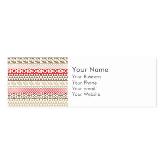 Navajo Geometric Aztec Andes Tribal Print Pattern Double-Sided Mini Business Cards (Pack Of 20)