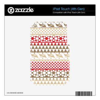 Navajo Geometric Aztec Andes Tribal Print Pattern iPod Touch 4G Decals