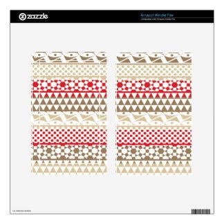 Navajo Geometric Aztec Andes Tribal Print Pattern Kindle Fire Skins