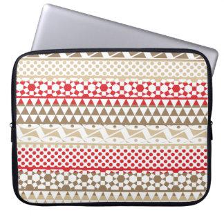 Navajo Geometric Aztec Andes Tribal Print Pattern Computer Sleeves