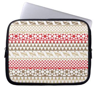 Navajo Geometric Aztec Andes Tribal Print Pattern Laptop Computer Sleeve